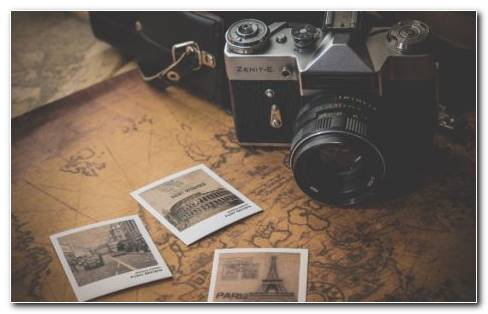 Vintage camera bag HD wallpaper