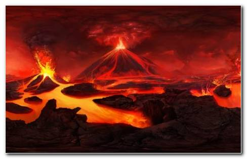 Volcano Eruption HD Wallpaper