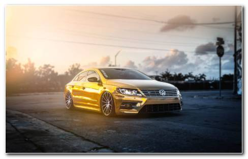 Volkswagen Golden Mist HD Wallpaper