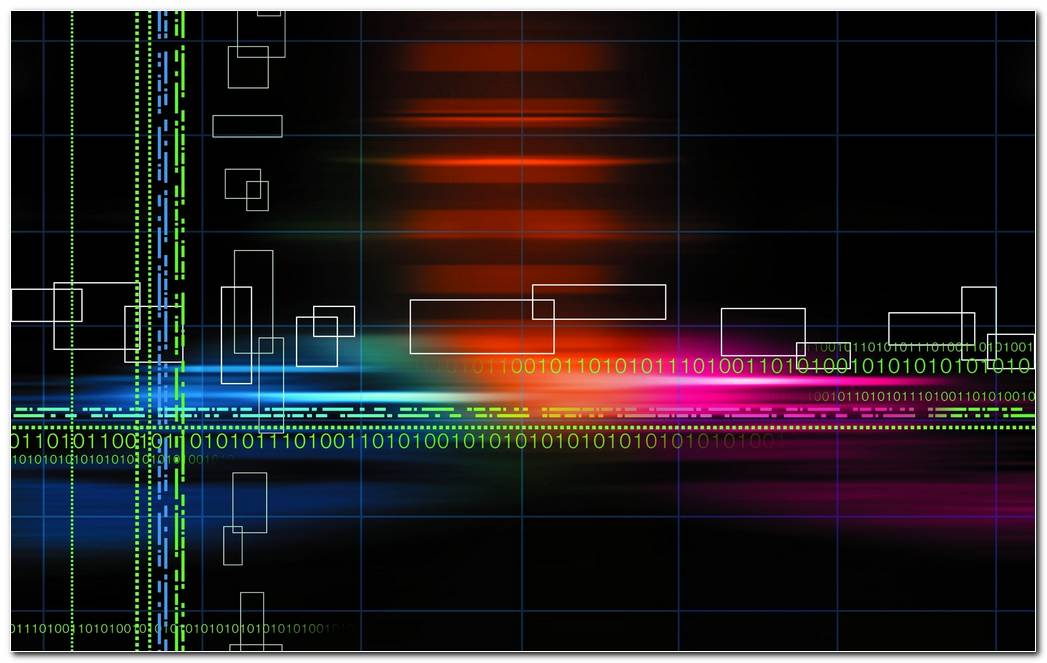 Wallpaper Abstract Multicolor Binary Grid Numbers Black Background 2560x1600