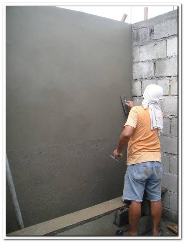 Wand Verputzen Innen Womit