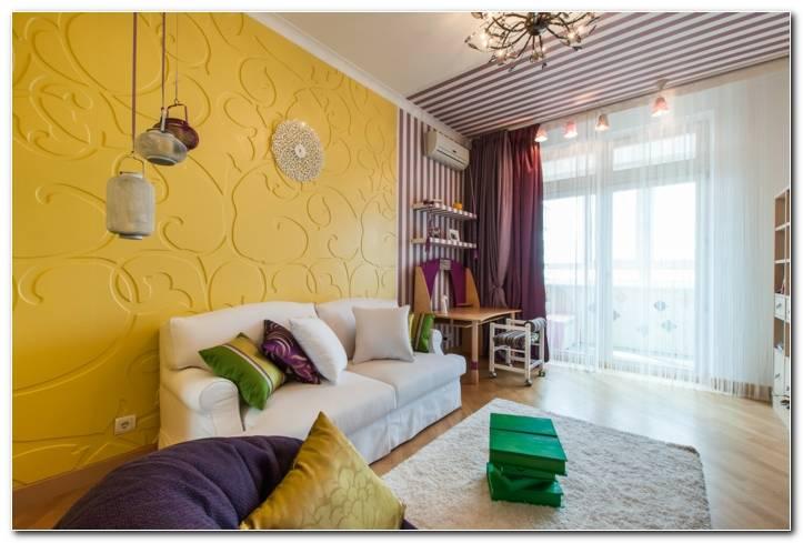 Wandgestaltung Wohnzimmer 2 Farben