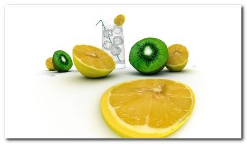 Watery Fruits HD Wallpaper