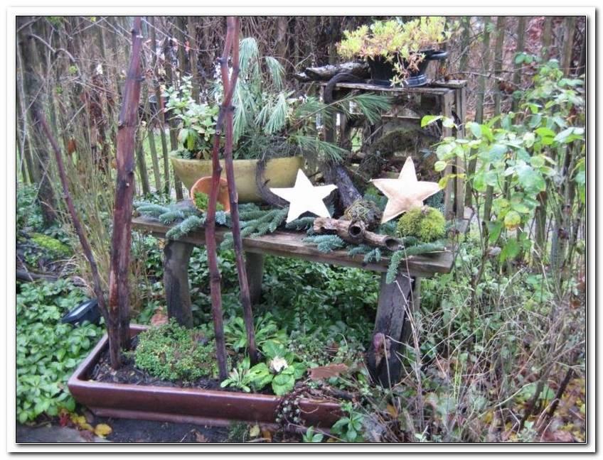 Weihnachtsdeko Im Garten Bilder