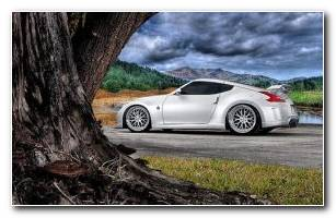 White Nissan 370Z HD Wallpapers