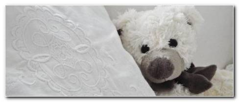 White Stuff Bear Lying On White Pillow