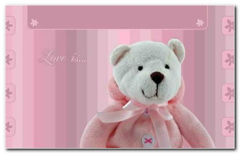 White Teddy YG On Pink Love Card