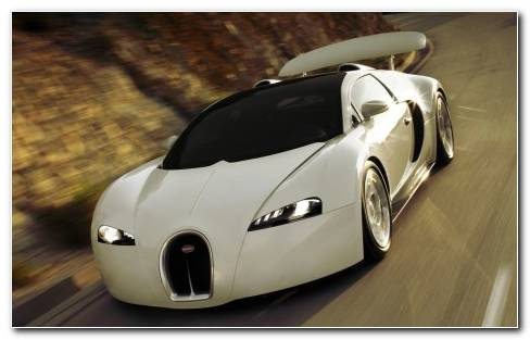 White Cars Bugatti Veyron HD Wallpaper Copy