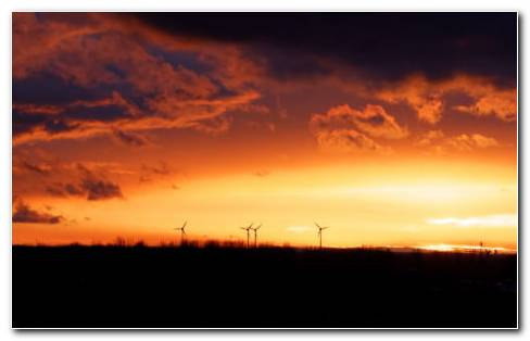 Wind Turbines For Home HD Wallpaper