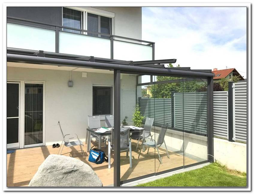 Windschutz Terrasse 4m