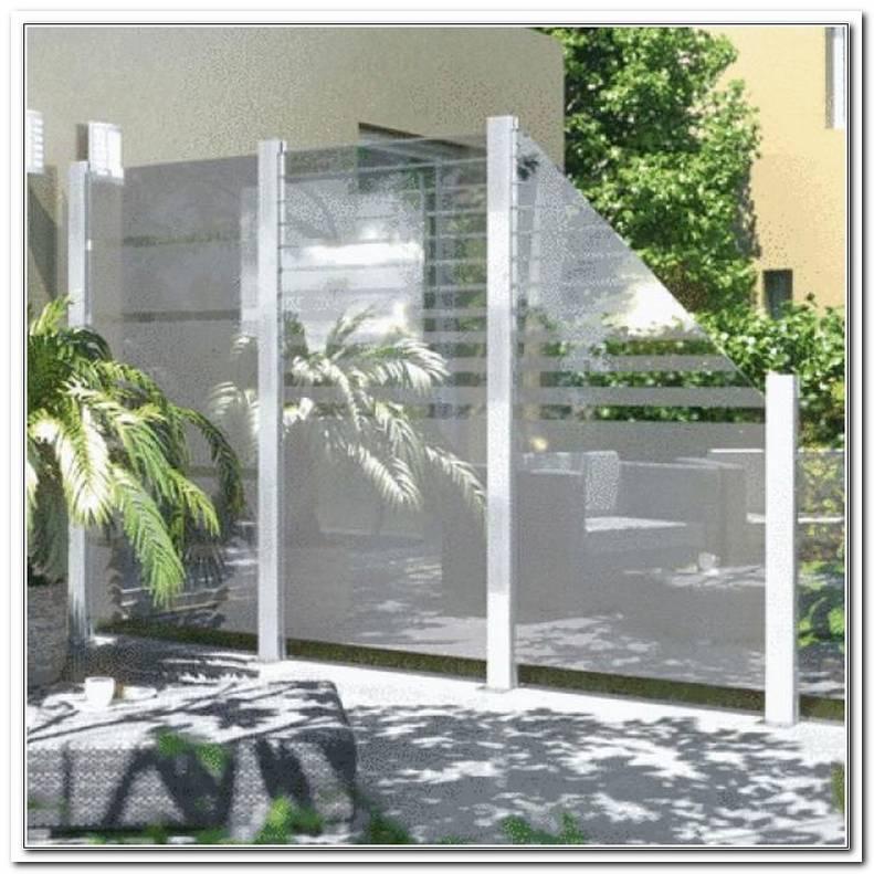 Windschutz Terrasse Glas Bauhaus