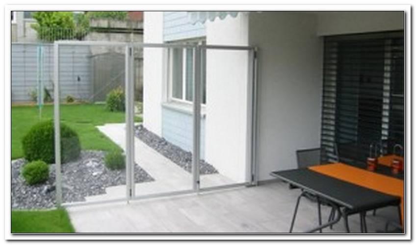 Windschutz Terrasse Glas Klappbar