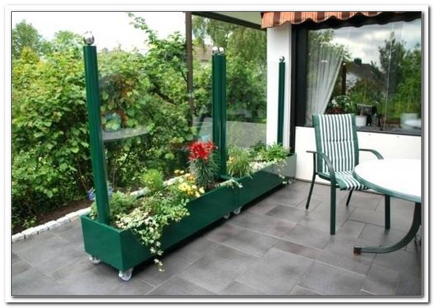 Windschutz Terrasse Mobil