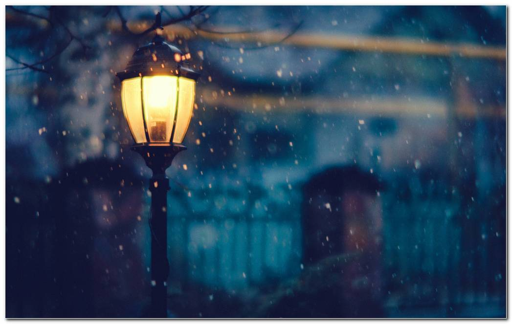 Winter Night Background Wallpaper Image