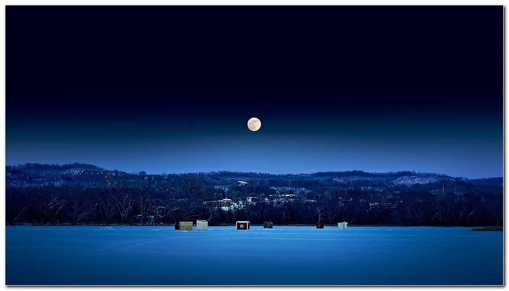 Winter Night Desktop Images Wallpaper