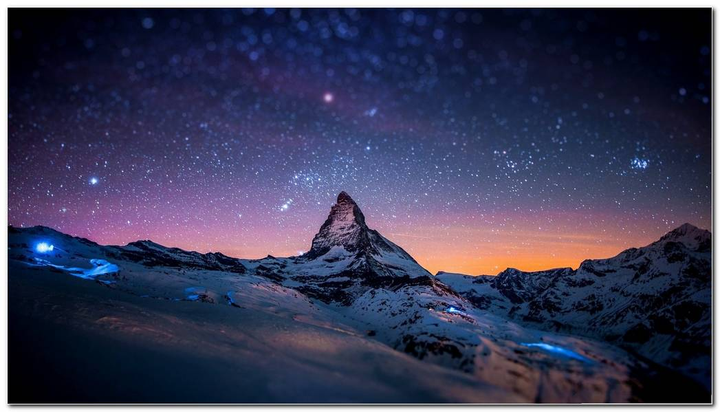Winter Night Wallpaper Image Beautiful
