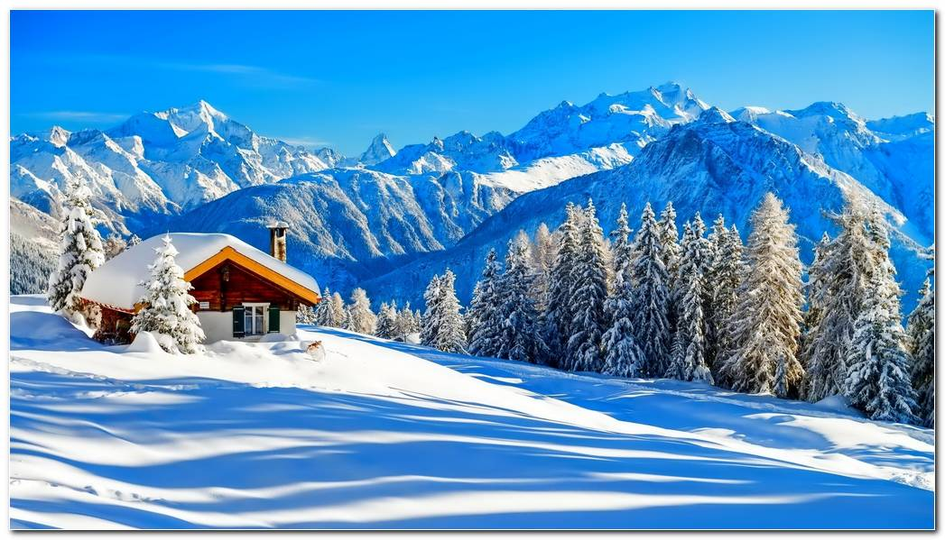Winter Picture Nature Mountain Wallpaper Background