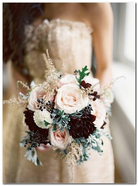 Winter Wedding Flowers Background
