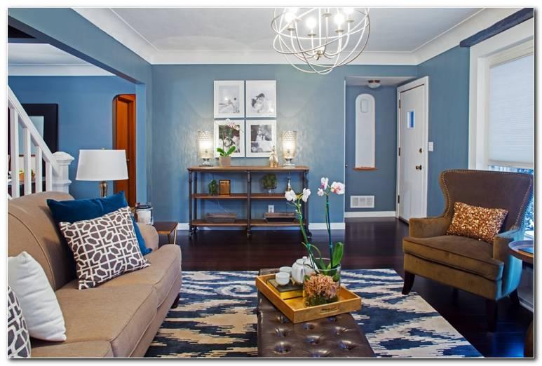 Wohnzimmer 1 Wand Farbig
