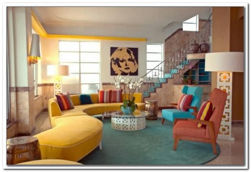 Wohnzimmer 50er Stil