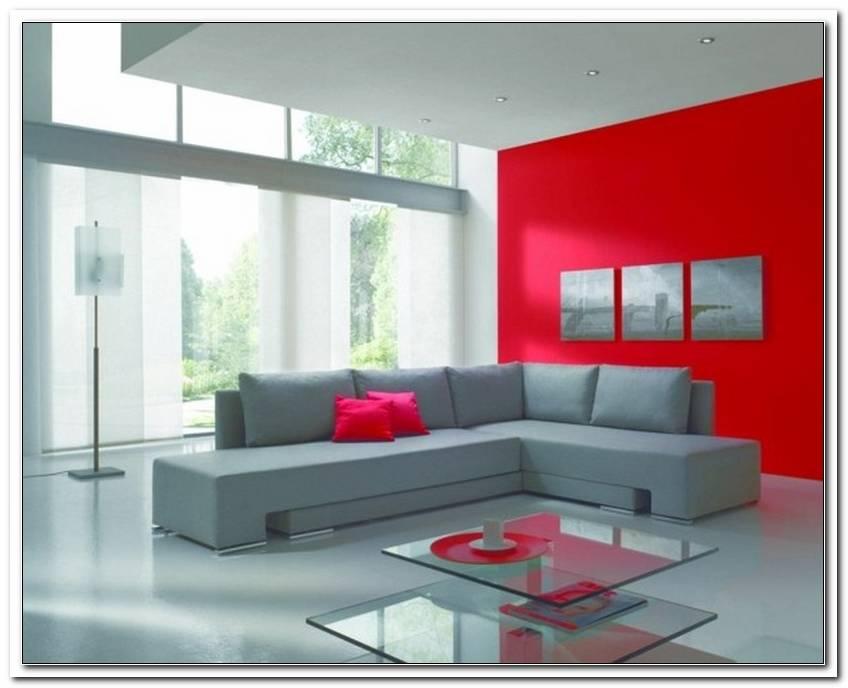 Wohnzimmer Grau Wei? Rot