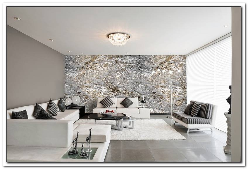 Wohnzimmer Grau Wei? Silber