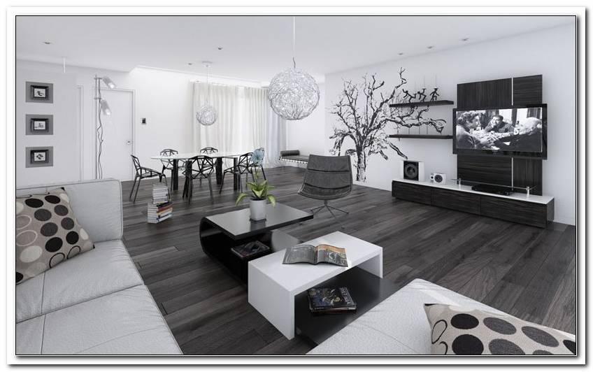Wohnzimmer Schwarz Wei? Holz