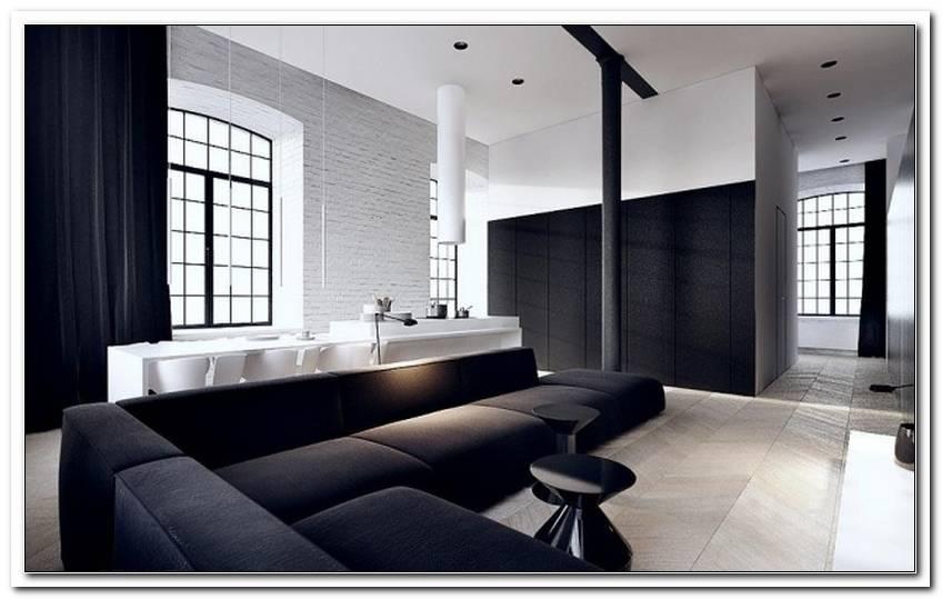 Wohnzimmer Schwarz Wei? Welche Wandfarbe