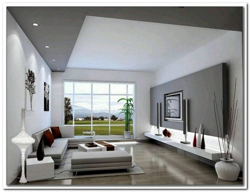 Wohnzimmer Wei Grau