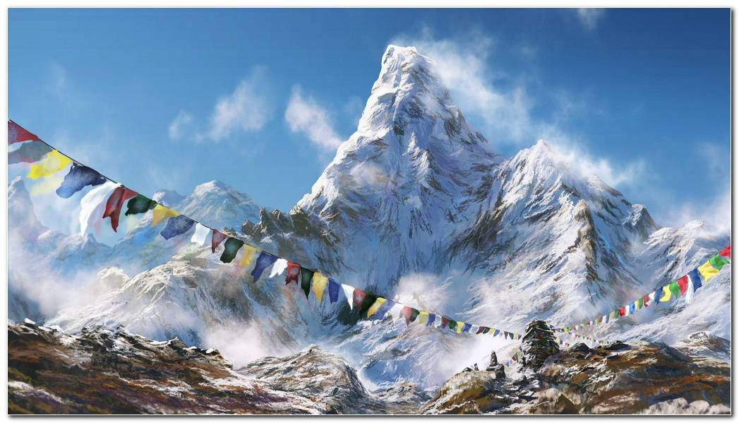 Wonderful Everest Mountain Picture Background Wallpapers
