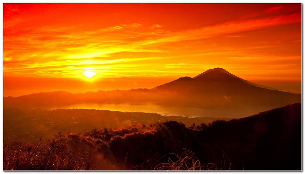 Wonderful Sunrise And Sunset Nature Wallpaper Background
