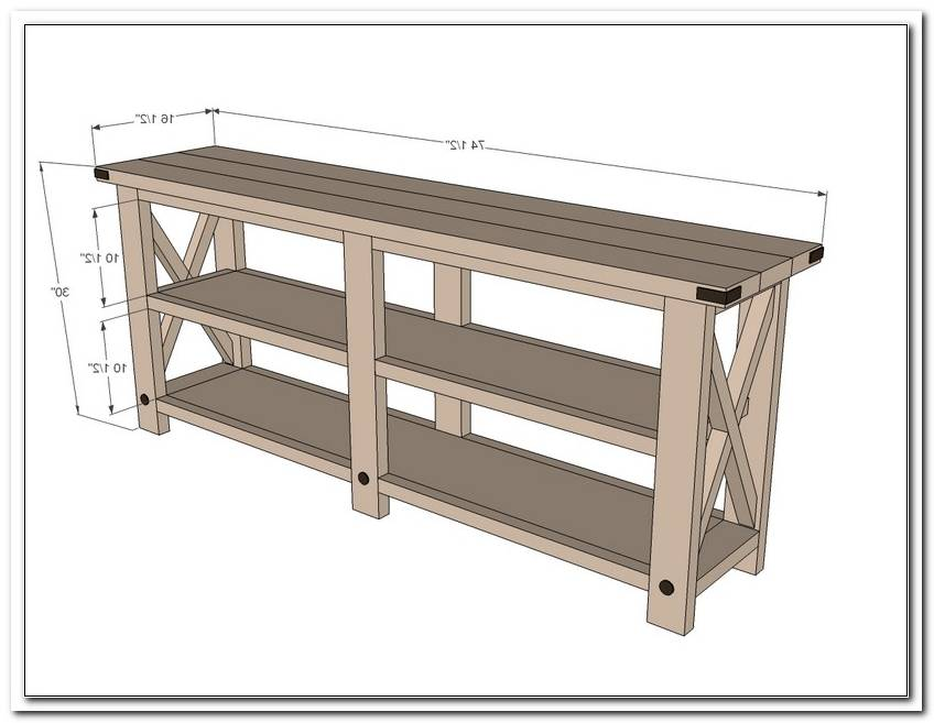 X Sofa Table Plans