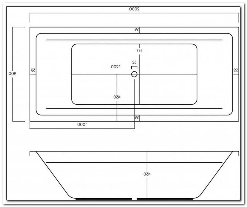 Acryl Badewanne 200 X 90