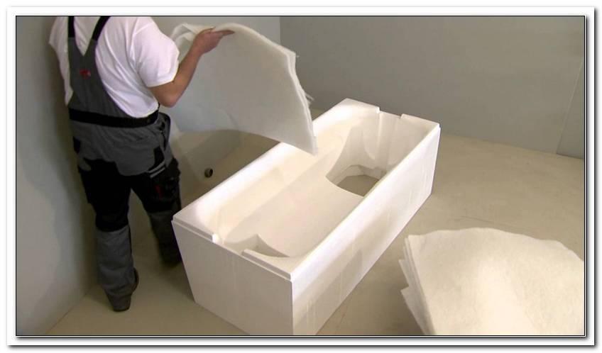 Acryl Badewanne Mit Styroportr?ger Einbauen