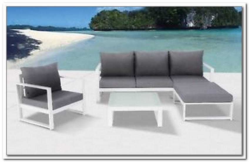 Aluminium Lounge M?bel Weiss