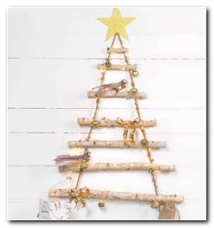 Arbol Navidad Madera Decorar Casa Colgando Pared