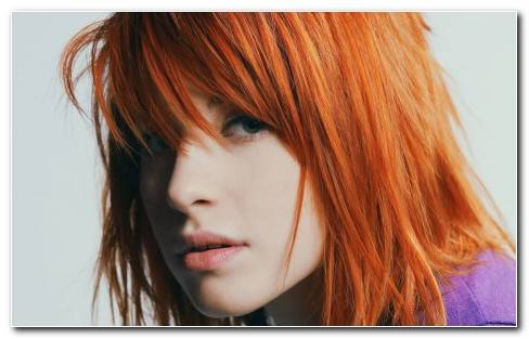 Ayley Williams Paramore Women Redheads Celebrity Singers Faces Wallpaper
