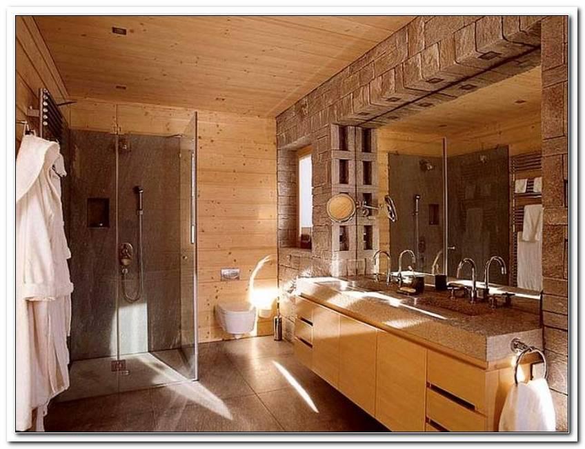 Badezimmer Aus Holz Und Stein