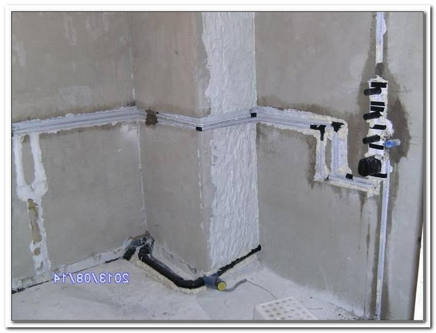 Badezimmer Leitungen Neu Verlegen
