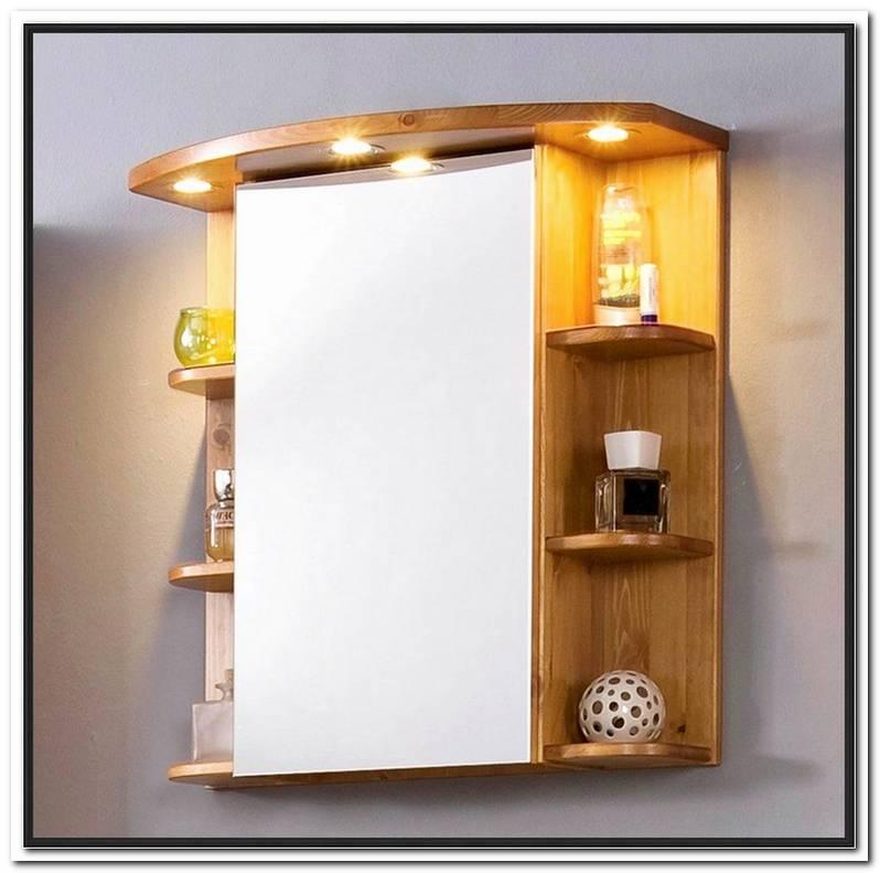 Badezimmer Spiegelschrank Holz