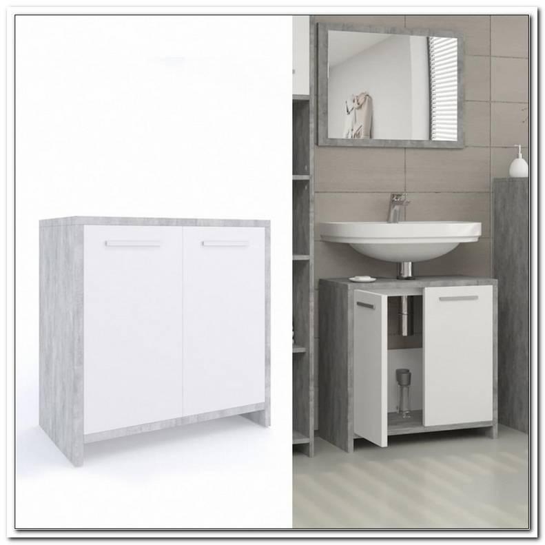 Badezimmer Unterschrank Grau