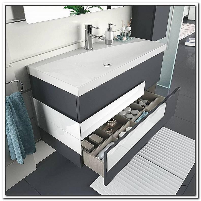 Badezimmer Unterschrank Mit Waschbecken 60 Cm Breit