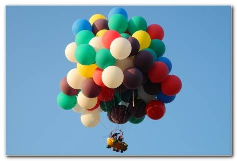 Balloon Sphere Shape Pattern Basket People Extreme Sky Colors Wallpaper