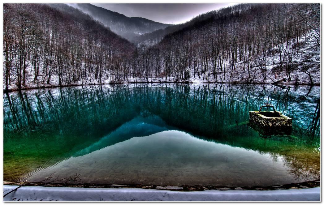 Beautiful Blue Lake Hd Wallpaper