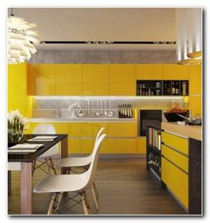 bella cocina muebles amarillos