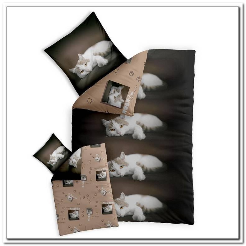 Bettw?sche Katzenmotiv 155x220