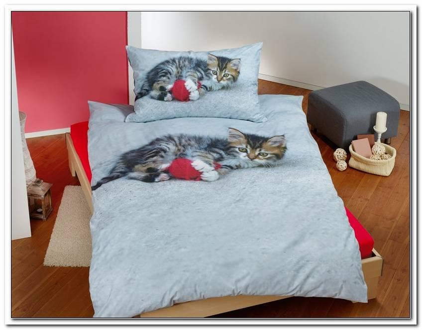 Bettw?sche Katzenmotiv Biber