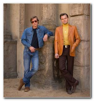 Brad Pitt Quentin Tarantino Once Upon A Time In Hollywood