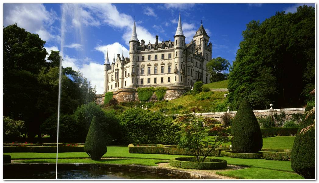 Castles Garden Dunrobin Castle Desktop 19201080 Hd Wantedwallpapers 1920x1080