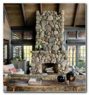 Chimenea Piedras Grandes Estilo Rustico